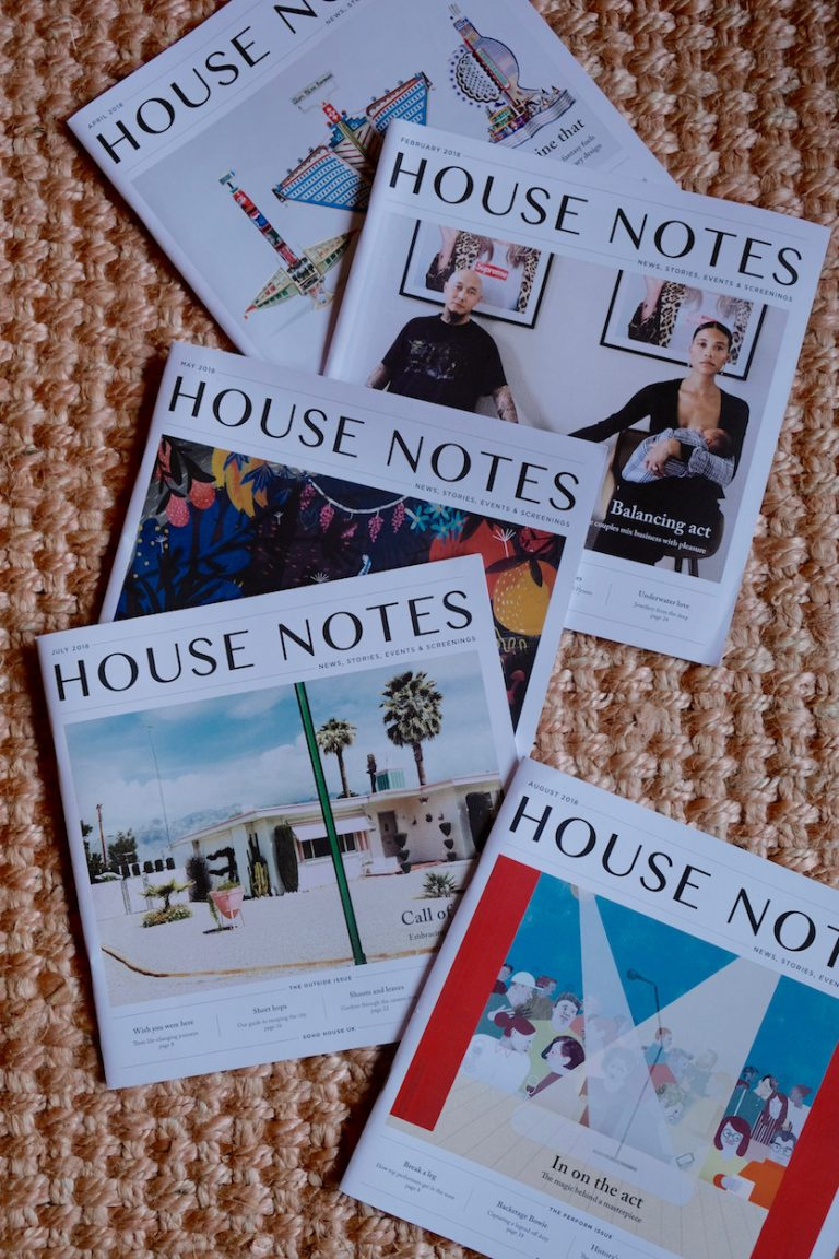 house notes stack